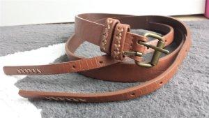no name Ceinture doubles brun-marron clair faux cuir