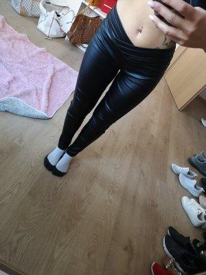 SheIn Pantalone in pelle nero