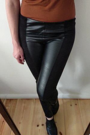 Kunstlederhose Fake leather Velour schwarz L / 40