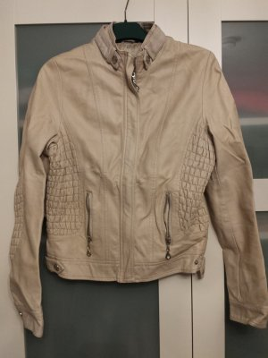 Faux Leather Jacket oatmeal