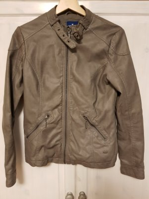 Tom Tailor Faux Leather Jacket grey