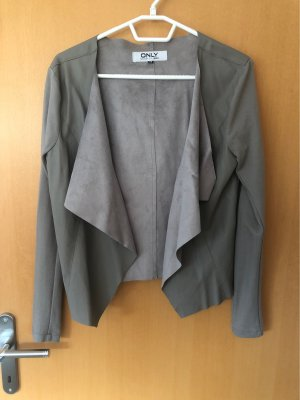 Only Leather Blazer beige-light grey