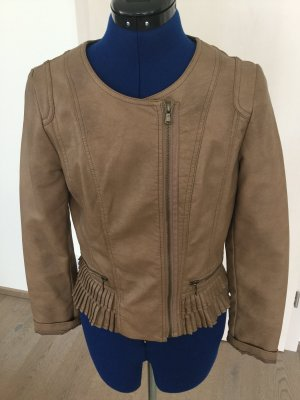 Orsay Faux Leather Jacket light brown