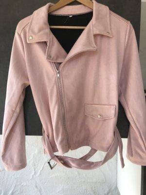 Giacca in ecopelle rosa chiaro