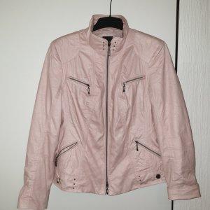 Bonita Faux Leather Jacket pink