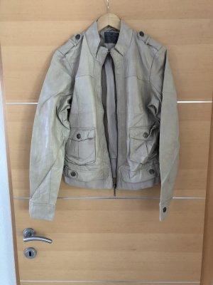 Vero Moda Faux Leather Jacket oatmeal