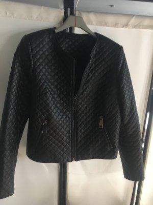 1.2.3 Paris Veste en cuir synthétique noir