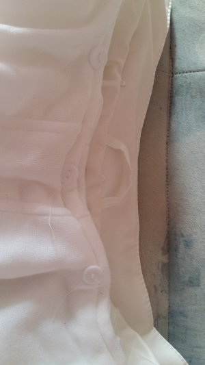 Faux Leather Jacket white