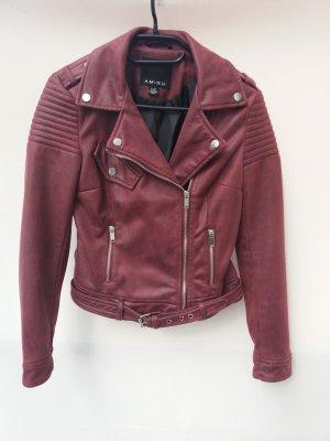 Leather Jacket bordeaux