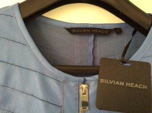 Silvian heach Chaqueta de cuero de imitación azul aciano Imitación de cuero