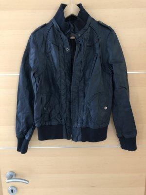 17&co Faux Leather Jacket dark blue
