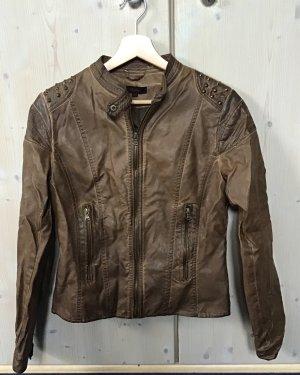 Bata Veste en cuir synthétique brun