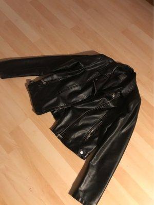 Primark Veste en cuir noir-argenté