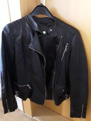 Kunstlederjacke Esprit schwarz Bikerlook