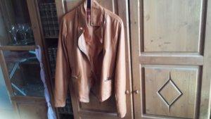 H&M Giacca in ecopelle marrone chiaro