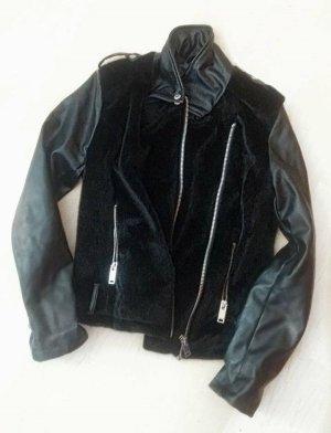 Kunstlederjacke Jacke Lederjacke von New Yorker in Größe M mit Kunstfellbesatz