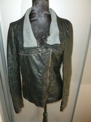 Kunstlederjacke Jacke schwarz Gina