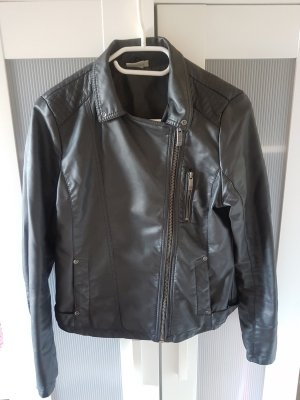 Blue Motion Faux Leather Jacket dark grey-anthracite