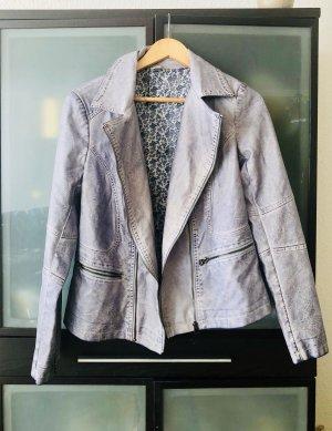 Liberty Faux Leather Jacket azure