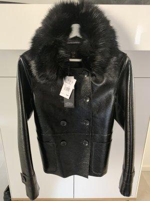 1.2.3 Paris Faux Leather Jacket black