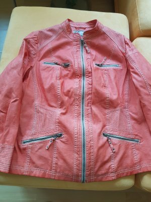 Kunstlederjacke - NEU - orange -