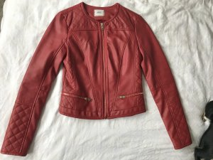 Pimkie Faux Leather Jacket red-gold-colored