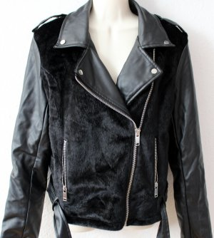 FB Sister Faux Leather Jacket black