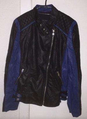 Kunstlederjacke schwarz blau