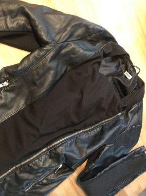 Kunstlederjacke schwarz - M - 38