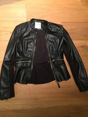 Kunstlederjacke schwarz von Zara, Gr 36 super Zustand