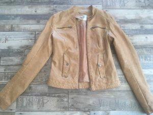 Vero Moda Faux Leather Jacket cognac-coloured