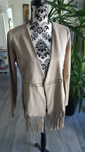 Dreimaster Faux Leather Jacket sand brown