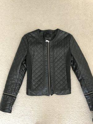 H&M Veste en cuir synthétique noir