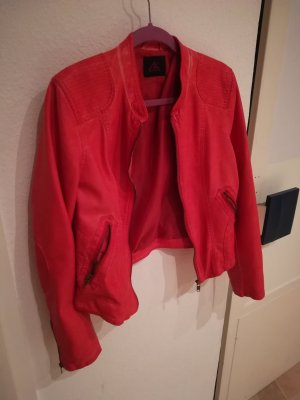 Ann Christine Leather Jacket bright red-red