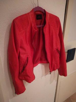 Ann Christine Giacca in pelle rosso chiaro-rosso