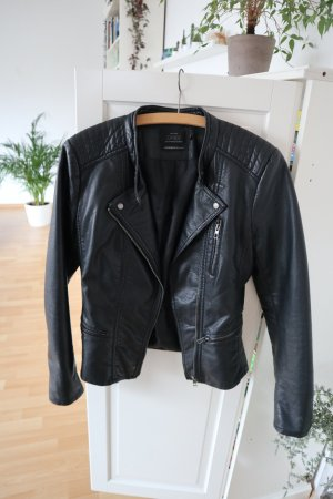 Only Faux Leather Jacket black imitation leather