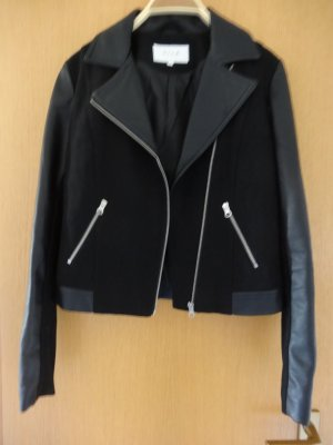 Vila Faux Leather Jacket black polyester