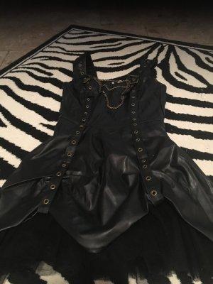 Leren jurk zwart-goud