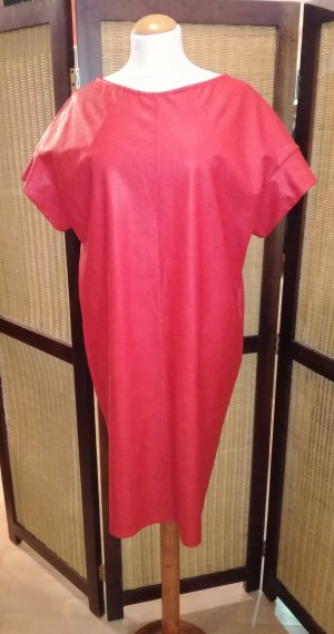 Casadei Leather Dress red