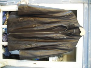 Samoon Leather Coat brown red imitation leather