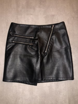 H&M Rok van imitatieleder zwart