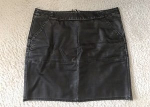 More & More Faux Leather Skirt anthracite-silver-colored