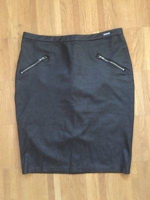 Guess Falda de tubo gris antracita