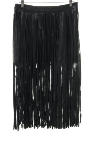 "Faux Leather Skirt ""n: philanthropy"" black"