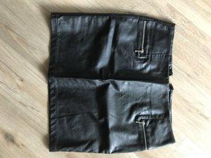 H&M Jupe en cuir synthétique noir faux cuir