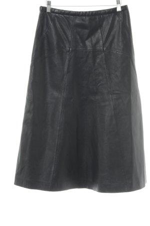 Leren rok zwart elegant