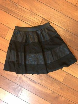 Only Jupe en cuir synthétique noir faux cuir