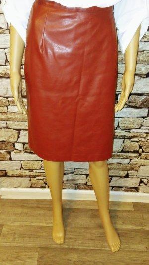 Staccato Falda de cuero de imitación rojo Imitación de cuero
