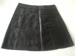 Kunstlederröck schwarz H&M