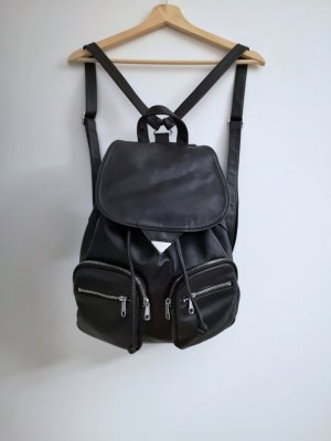 H&M Rugzak zwart-zilver